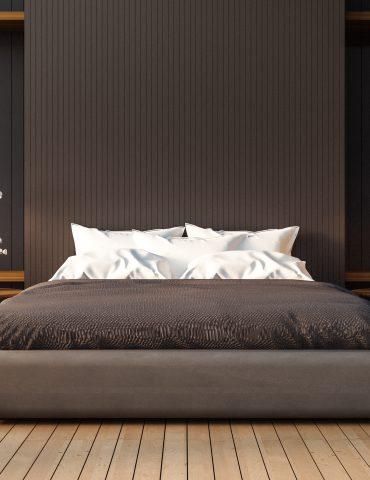 Loft and modern bedroom