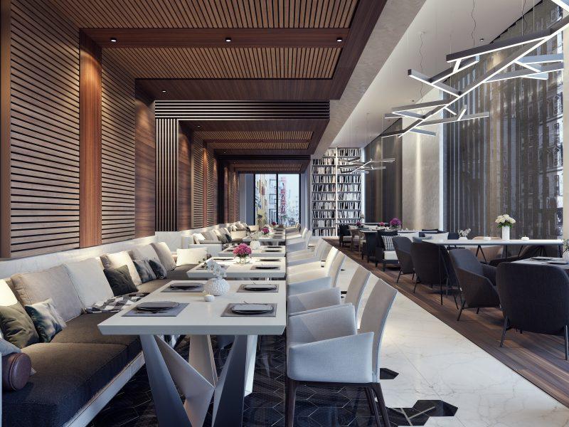Modern concept design of restaurant lounge