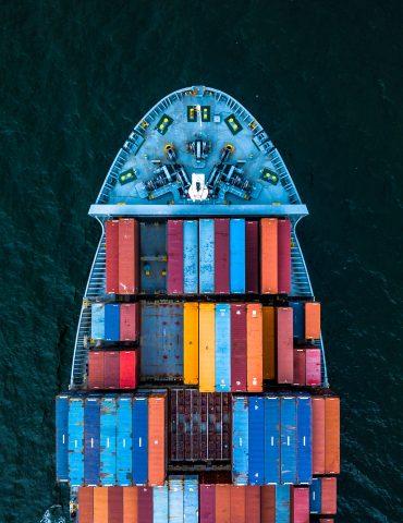 International Container Cargo ship